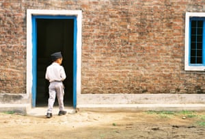 Ranbir, returning home after a long day at school, Nepal