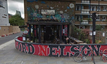 Google maps screengrab of Lord Nelson in Southwark, where alleged offence took place.
