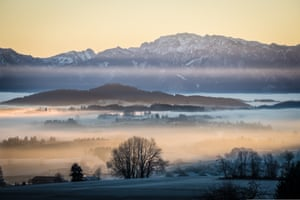 By Jon Williams. The Allgäu Alps in Germany is one of Europe's best kept secrets. Around every corner is a stunning vista, with snow-capped mountains, crystal-clear lakes and endless countryside. I captured this shot on a sunrise walk, and was captivated by the natural layers of fields, trees, hanging clouds and mountains.