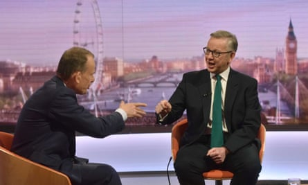 Michael Gove speaks to Andrew Marr