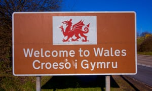 Welcome to Wales tourist sign