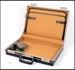 Briefcase camera workings.