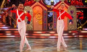 Joe McFadden and Katya Jones dance in the final of Strictly Come Dancing.