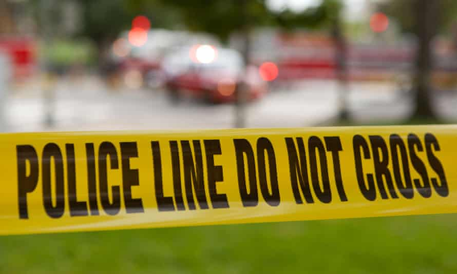 Police Line tape at a crime scene