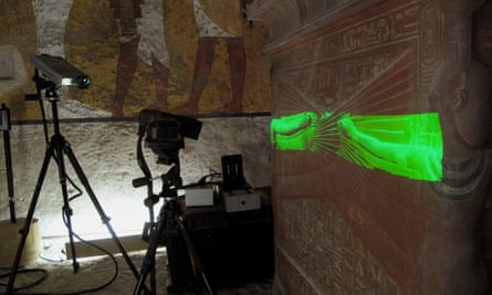 Protecting the past … the walls of Tutankhamun's tomb were scanned to produce a replica in the Valley of the Kings.