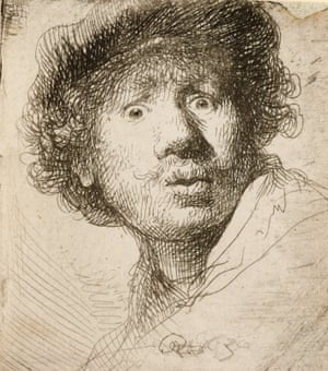 Rembrandt's self-portrait (1630):