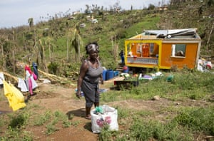 Hurricane Maria was the strongest storm on record to hit Dominica, with gusts of wind exceeding 160mph