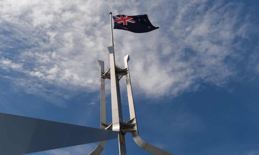 Flag over parliament house
