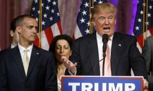 Trump and Corey Lewandowski