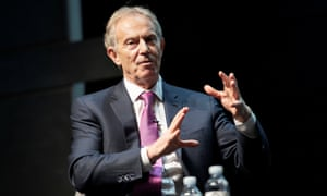 Tony Blair at the summit in the Royal Theatre House, in Copenhagen.