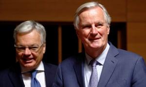 Michel Barnier (right) with Didier Reynders.