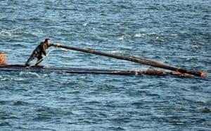 Rafting People on Yalu River China