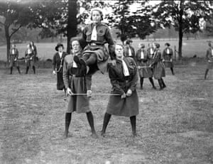 Girl Guide rally at Sidcup Place, Kent 1934
