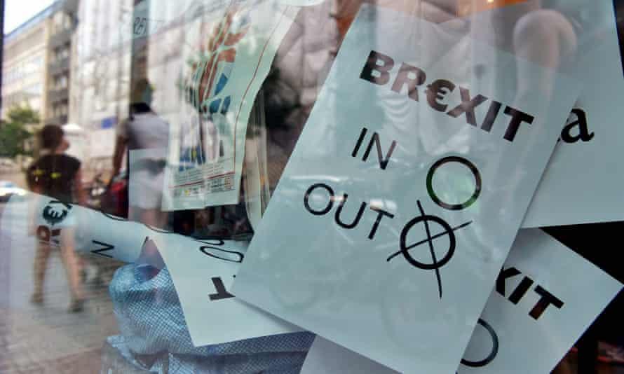 A Brexit vote poster.