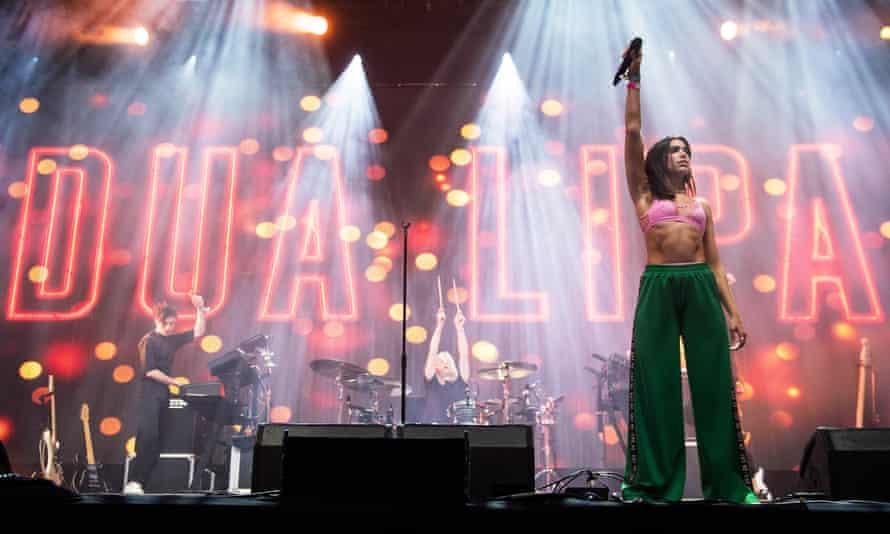 Dua Lipa on the John Peel stage.