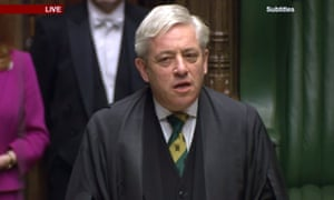 John Bercow at the prorogation ceremony.