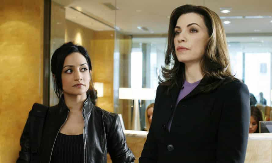 Keep your friends close ... Panjabi with Julianna Margulies in The Good Wife.