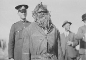 Jimmy Clements at the opening of the federal parliament in Canberra in 1927