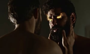 Salim (Omid Abtahi) and a Jinn in human form (played by Mousa Kraish) in a scene from episode three of American Gods