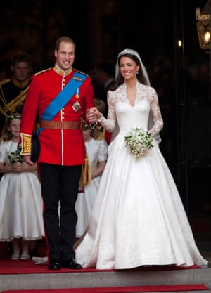 The royal wedding of Prince William and Kate Middleton, 29 April 2011.