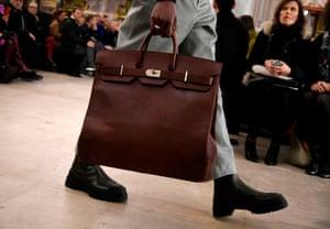 A bag on the catwalk at Hermès.