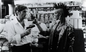 Harry Dean Stanton and Jennifer Balgobin in Repo Man, 1984