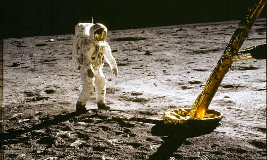 Edwin 'Buzz' Aldrin on the moon in 1969 – an event contested by many conspiracy theorists.