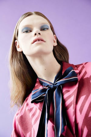 Coat, £620, houseofholland.co.uk. Tie-bow dress, £222, by frame-denim.com
