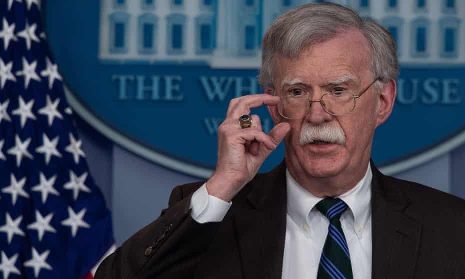 John Bolton at a press briefing at the White House on 27 November.
