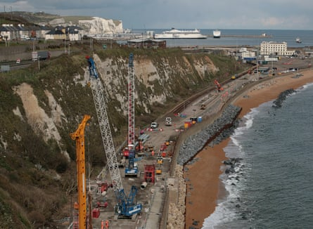 Repairs on the damaged line near Dover.