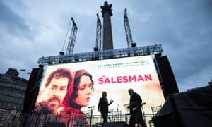 The public screening of The Salesman in London on Sunday was intended to be a show of unity and strength against Donald Trump's travel ban.