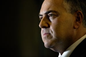 """The smiles are gone and the treasurer looks pretty serious as he gets a grilling from the media. (Later in the evening Hockey denies the budget marks a political climb-down. """"No, not at all. It is part of our economic plan to strengthen the foundation for our future prosperity and it is working."""")"""