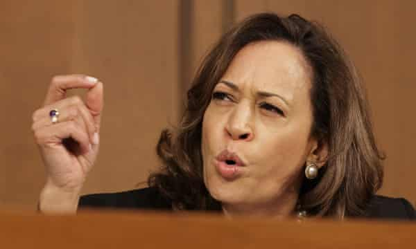 Senator Kamala Harris objected that judiciary committee members had been denied access to key documents about Kavanaugh's White House experience.