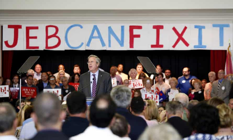 Jeb Bush speaks to supporters