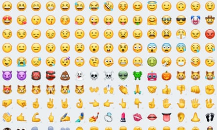 A selection of the new emoji created by WhatsApp.