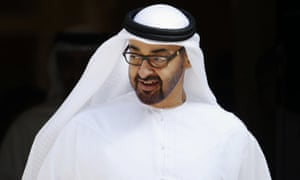 Sheikh Mohammed bin Zayed Al Nahyan leaves Downing Street after a meeting with David Cameron.