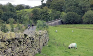 cycling by drystone walls