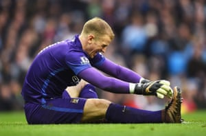 Hart, injured after the clash with Martial.