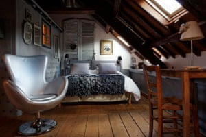 A bedroom at one of farmhouse's cottages.
