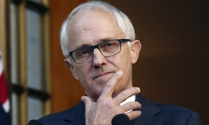 Malcolm Turnbull announces his new cabinet at parliament house in Canberra on Sunday.