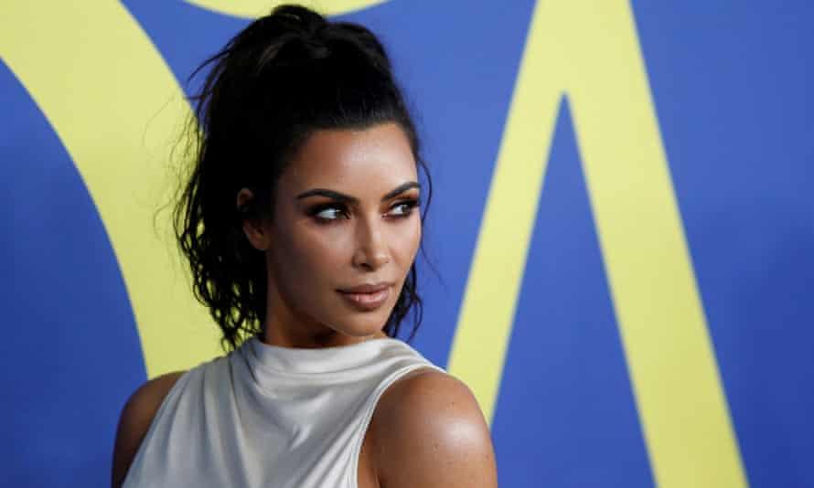 Kim Kardashian at the CFDA Fashion awards in 2018.