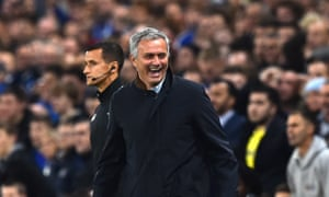 José Mourinho brought his whole family to Stamford Bridge for the crucial game with Dynamo Kyiv and seemed to revel in the support he received from the Chelsea fans.