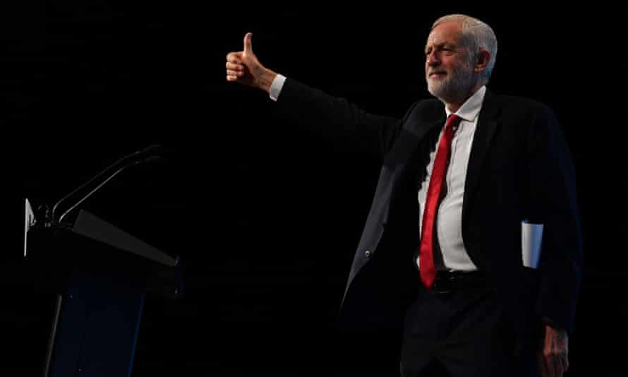 Labour leader Jeremy Corbyn at the TUC Congress in Brighton.