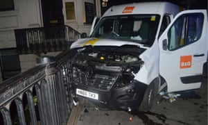 The van used in the London Bridge attacks.