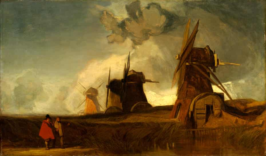 Drainage Mills in the Fens, Croyland, Lincolnshire by John Sell Cotman, 1835.