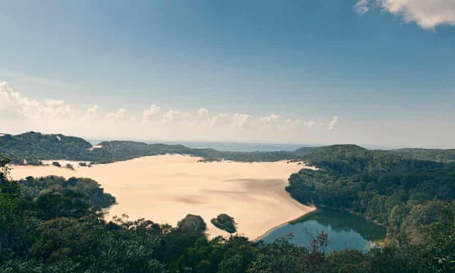 Lake Wabby on Fraser Island