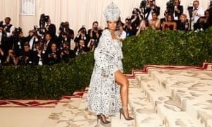 Rihanna arrives at New York's Met Gala.