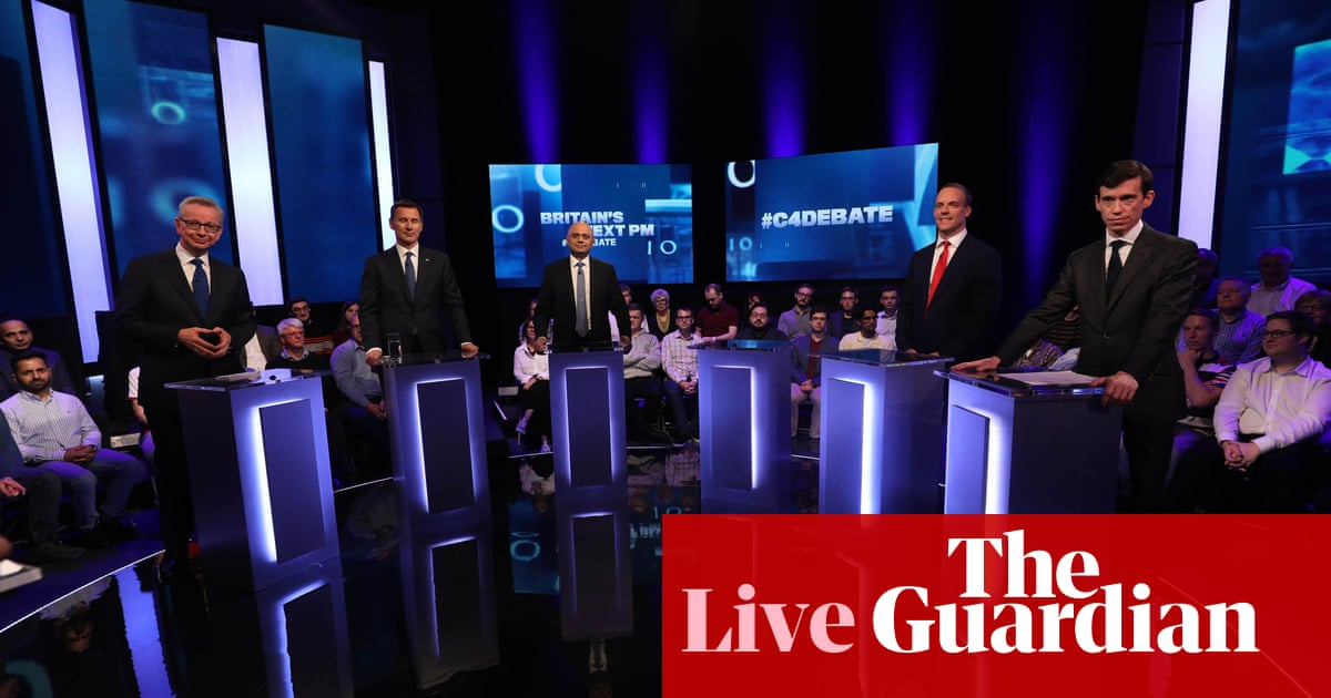Channel 4 debate: Tory leadership candidates take part in first TV