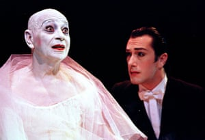 Lindsay Kemp and Marco Berriel in 'MeMORIES of a Traviata' from 'Dreamdances at the Peacock theatre in 2002