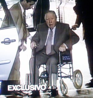 Augusto Pinochet after his arrest in London in 1998.